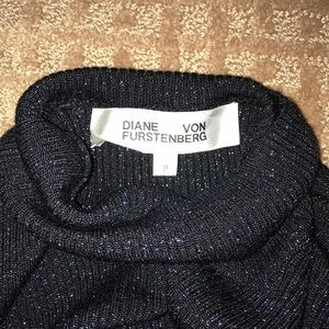 Designer ribbed mock Turtleneck